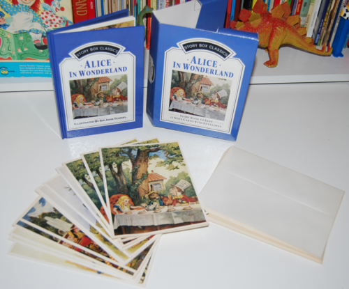 Alice in wonderland notecard set x