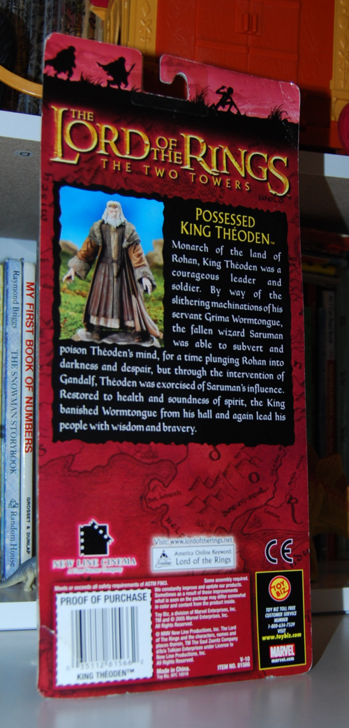 Lord of the ring two towers possessed king theoden figure x