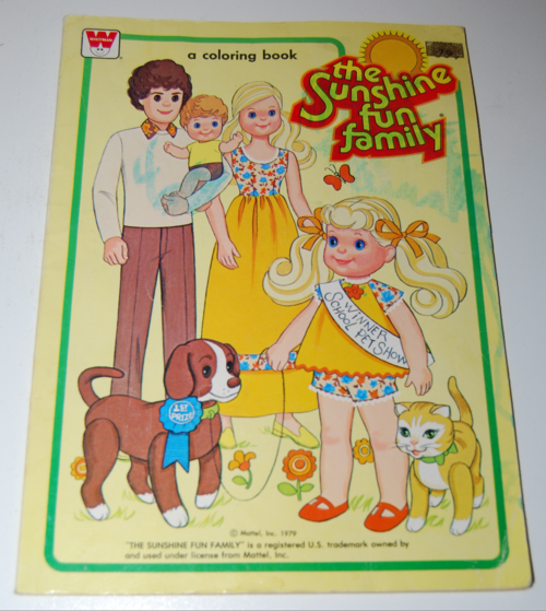 sunshine family dolls coloring book - lost & found vintage toys