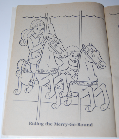 The sunshine family whitman coloring book mattel 1979 7