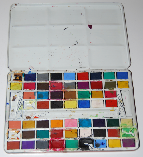 Vintage water colors tin 1