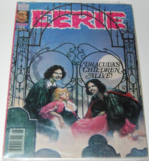 Vintage eerie comic book