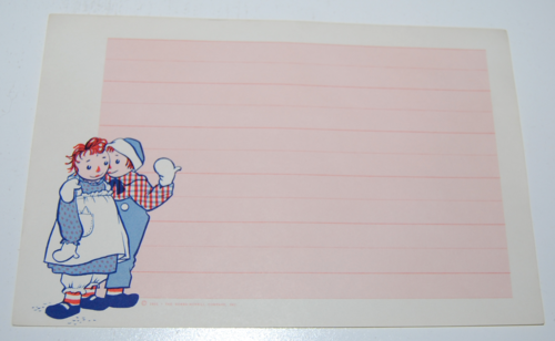 Raggedy ann stationery 4