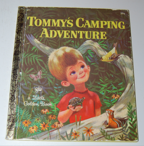 Tommy's camping adventure little golden book