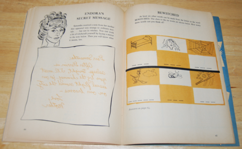 Bewitched vintage activity book 9