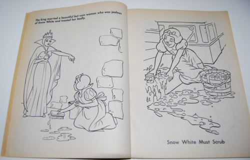 Snow white coloring book 3