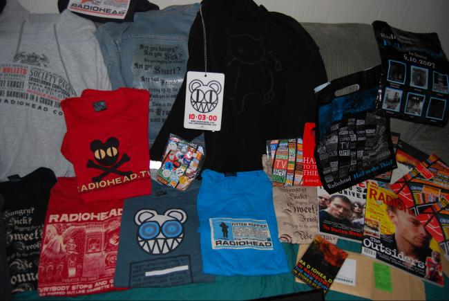 more radiohead t-shirts