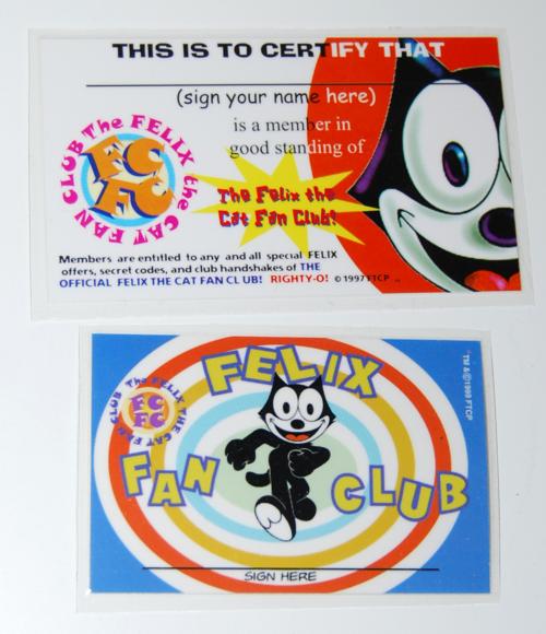 Felix the cat fan club