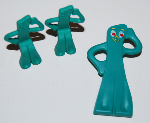 Gumby pencil toppers