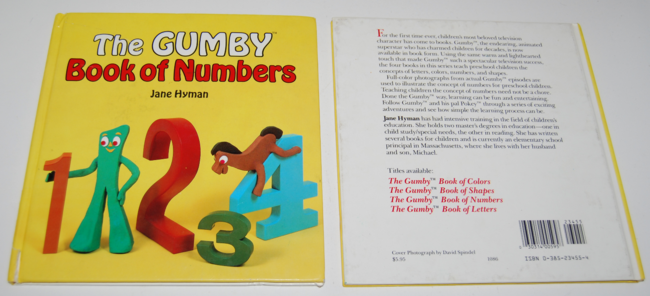 book month ~ gumby book of numbers