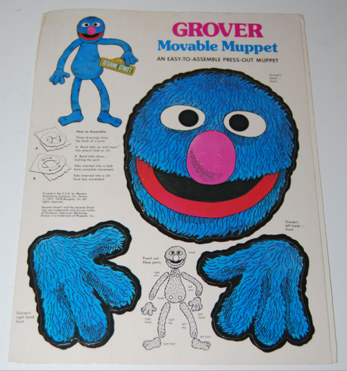 Vintage grover puppet