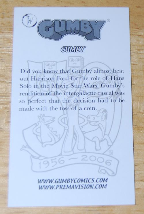 Comiccon card gumby x