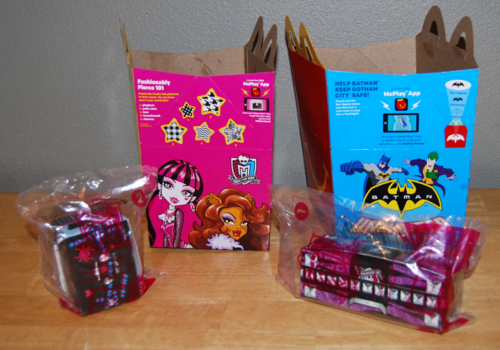 Monster high happy meal 2015