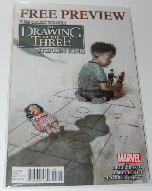 Stephen king comic drawing of the 3