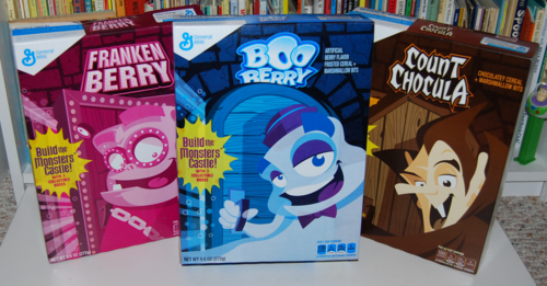 Halloween cereal boxes
