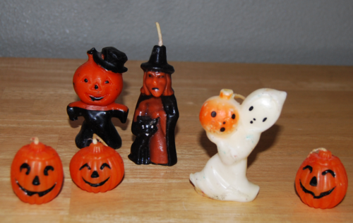 Vintage halloween candles