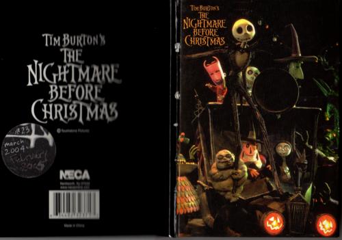Tim burton's nightmare before christmas journal