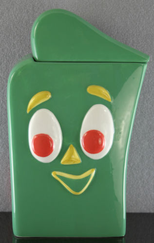 Gumby cookie jar