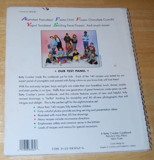 Betty crocker new boys & girls cook book x