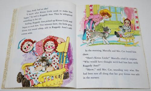 Little golden book raggedy ann & andy little grey kitten 7