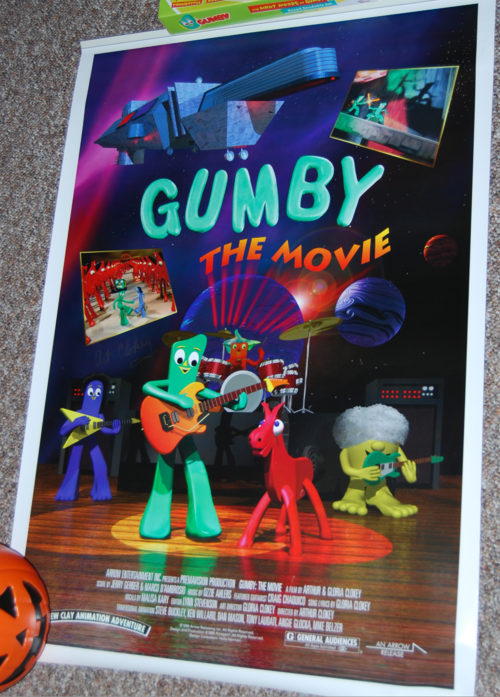 Gumby the movie signed poster
