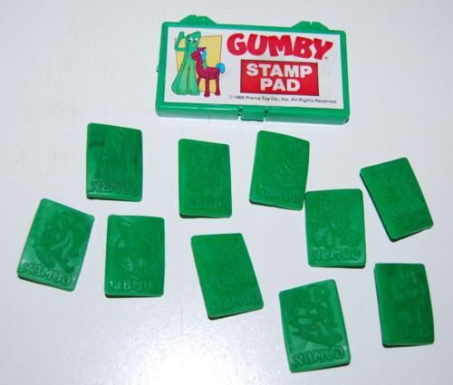 Gumby stamp pad set