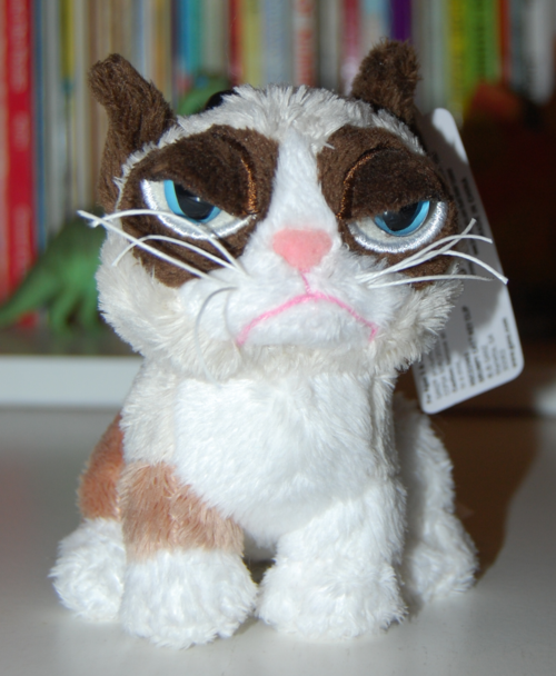 Grumpy cat plush keychain x