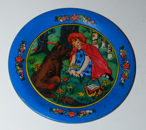 Little red riding hood ohio art tin plate 1