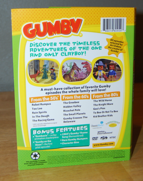 Gumby essentials dvd 1