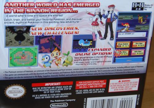 Pokemon ds platinum version 1