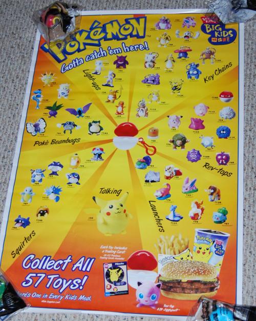 Pokemon burger king toys poster