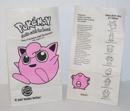 Bk pokemon kids meal