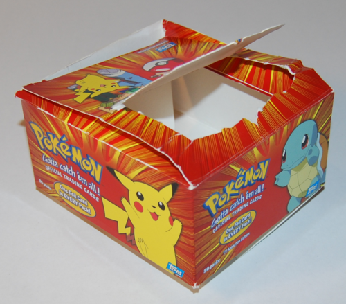 Topp's pokemon card box x