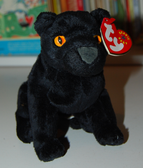 Ty beanie baby kitty midnight