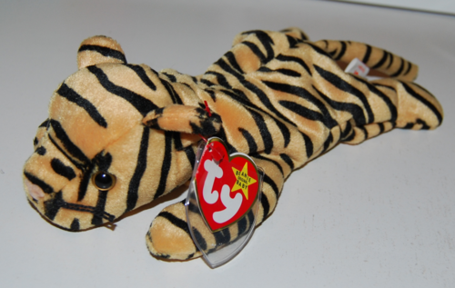 Ty beanie baby kitty stripes