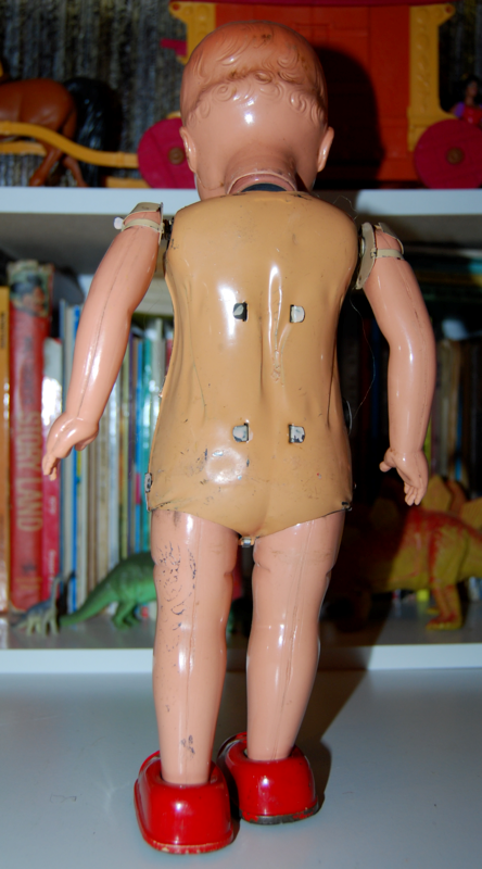 Vintage metal walking doll 3