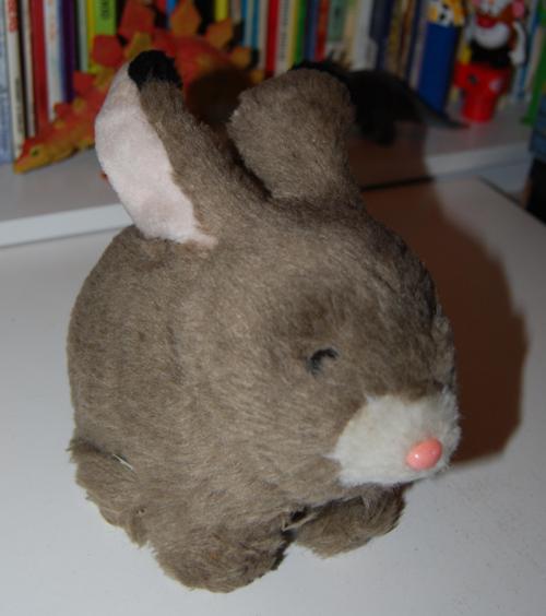 Hopping rabbit plush toy