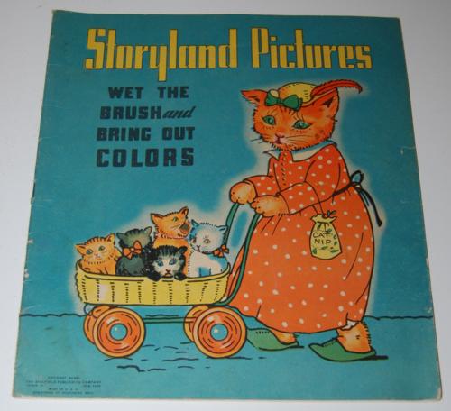 Storyland pictures saalfield paint book