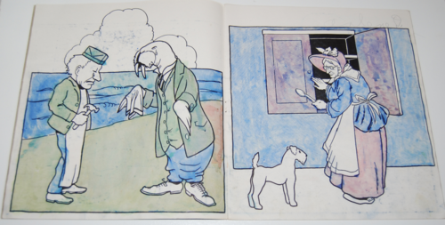 Storyland pictures saalfield paint book 2