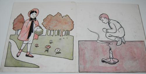 Storyland pictures saalfield paint book 5
