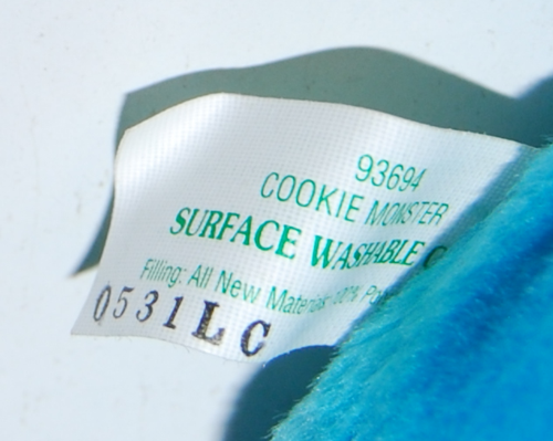 Cookie monster plush x