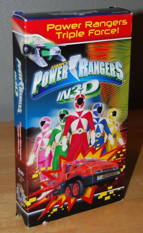 Power rangers triple force 3d vhs