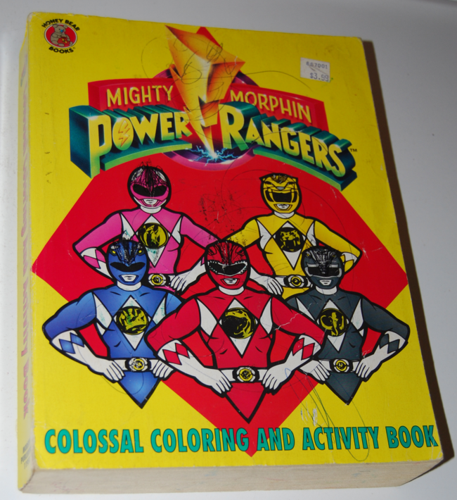 power rangers colossal coloring book