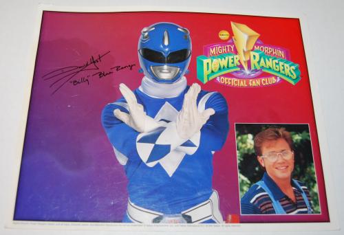 Power rangers autograph picture
