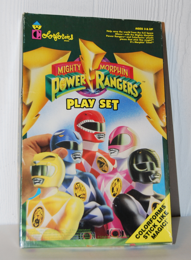 power rangers colorforms