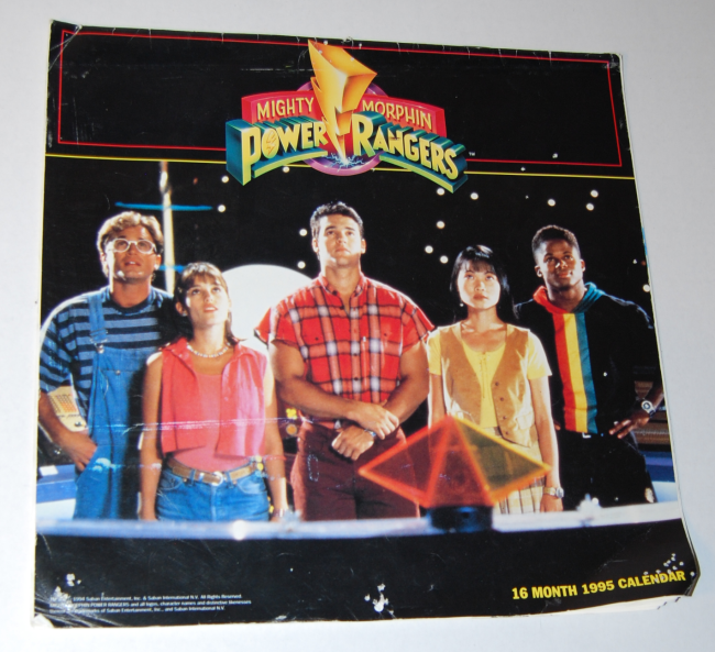 power rangers calendars