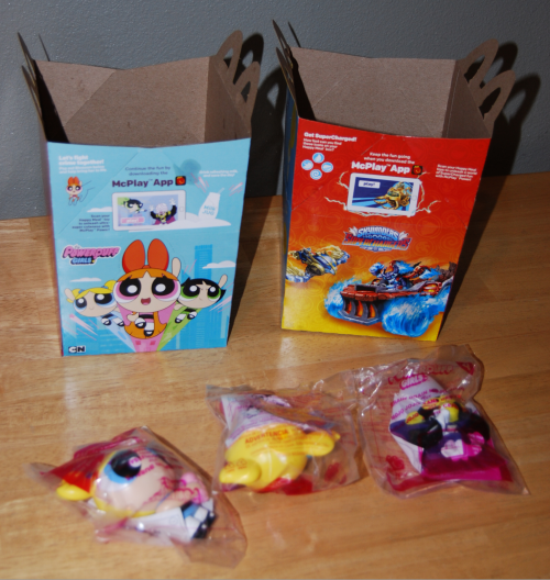 Power puff girls happy meal