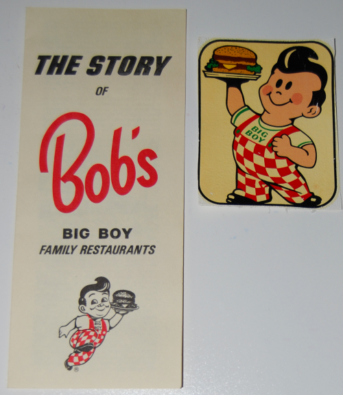Vintage bob's big boy ephemera
