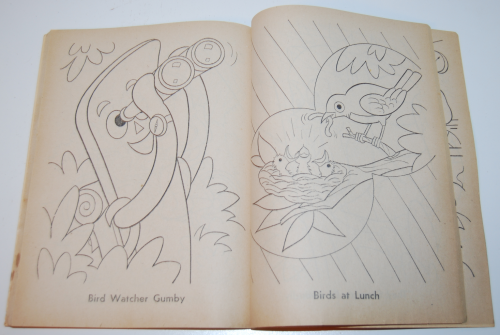 Gumby & pokey coloring book whitman 10