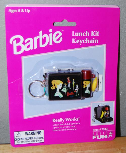 Barbie lunch kit keychain